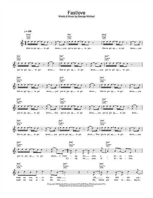 Fastlove Sheet Music