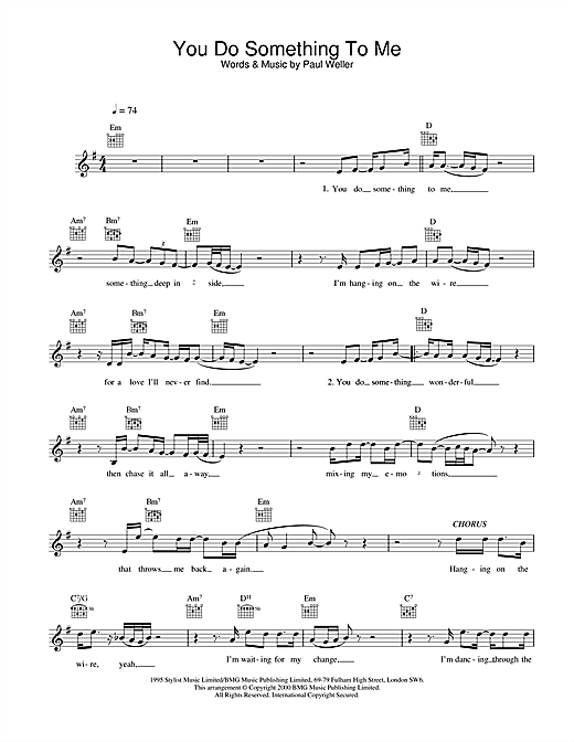 You Do Something To Me (Lead Sheet / Fake Book)