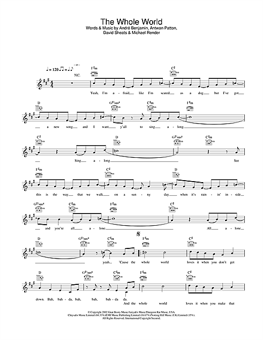 The Whole World Sheet Music