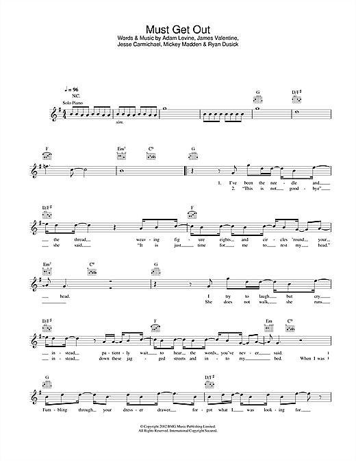 Must Get Out Sheet Music