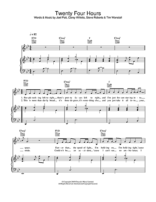 Twenty Four Hours Sheet Music