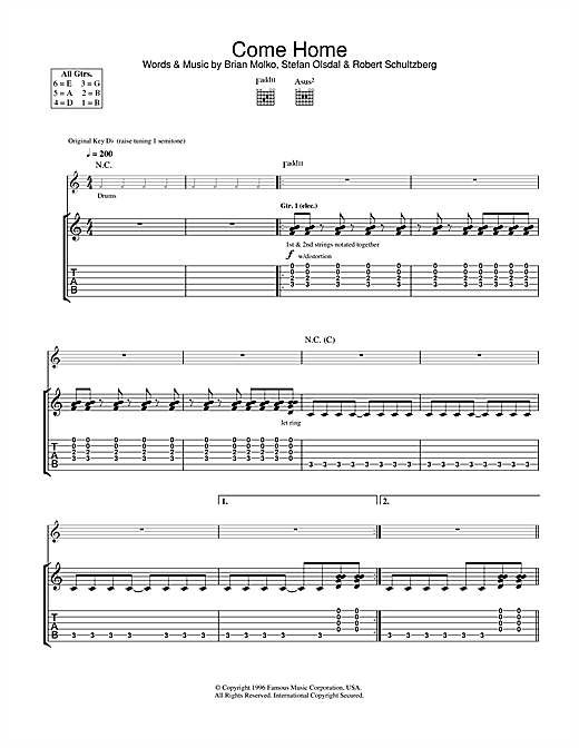 Come Home Sheet Music
