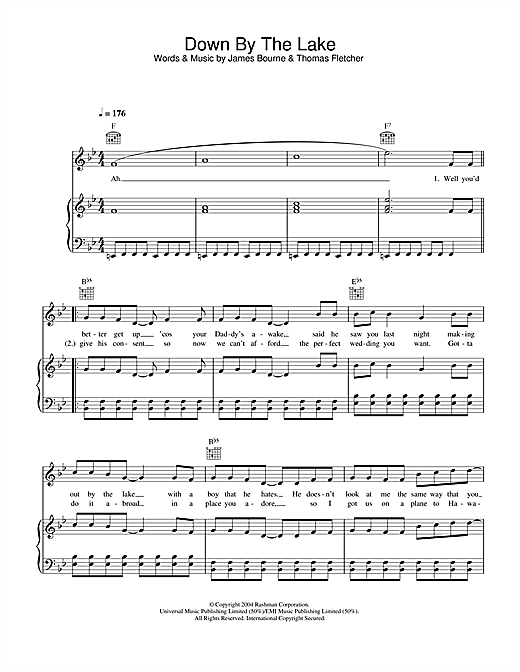 Down By The Lake Sheet Music