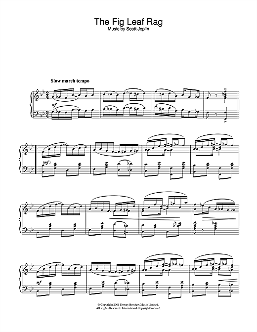 Fig Leaf Rag (Piano Solo)