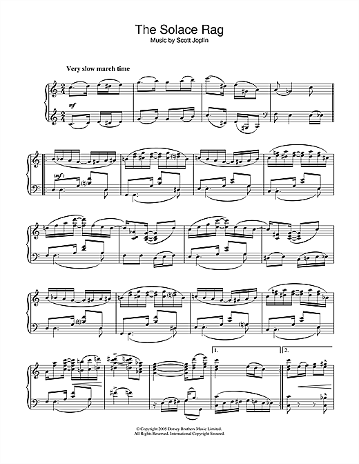 Solace Rag Sheet Music