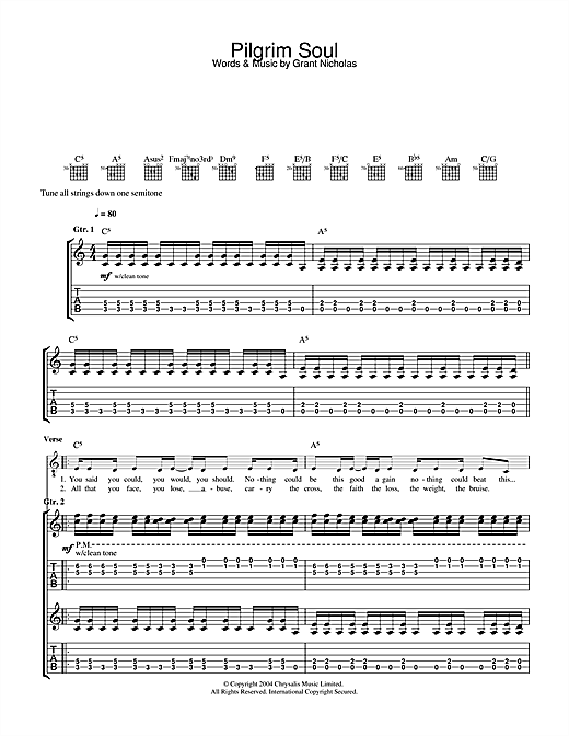 Pilgrim Soul Sheet Music