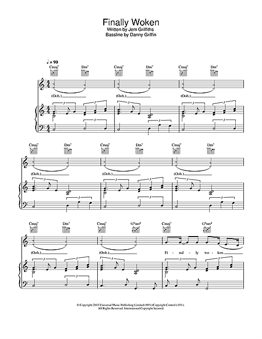 Finally Woken Sheet Music