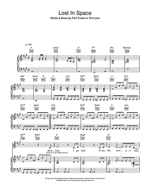 Lost In Space Sheet Music