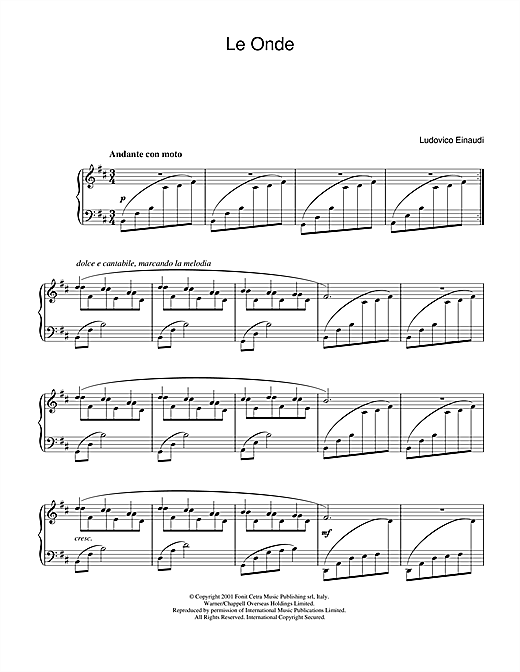 Le Onde Sheet Music