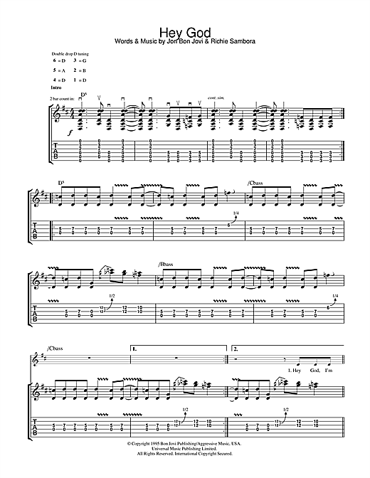 Hey God (Guitar Tab)