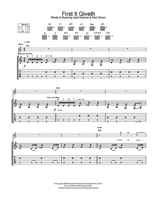 First It Giveth Sheet Music