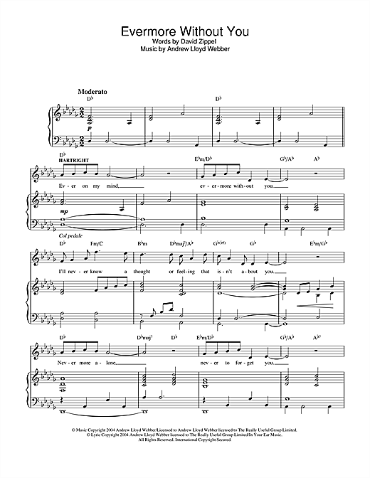 Evermore Without You (from The Woman In White) Sheet Music