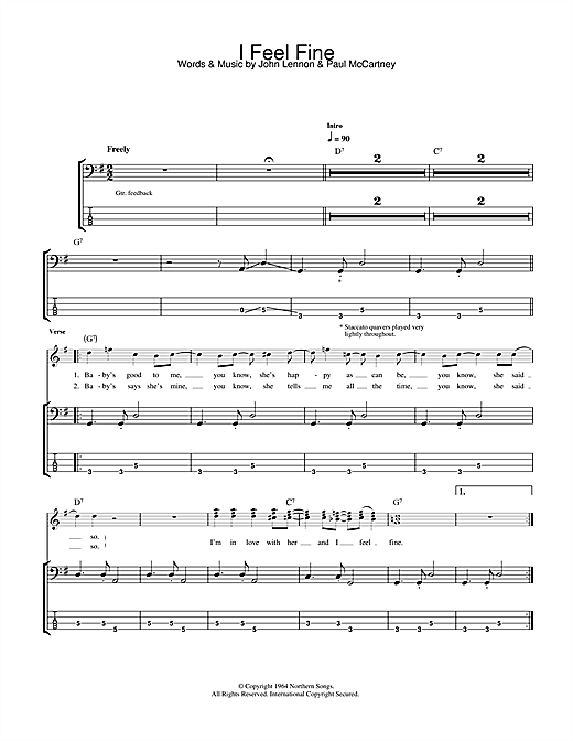 I Feel Fine Sheet Music