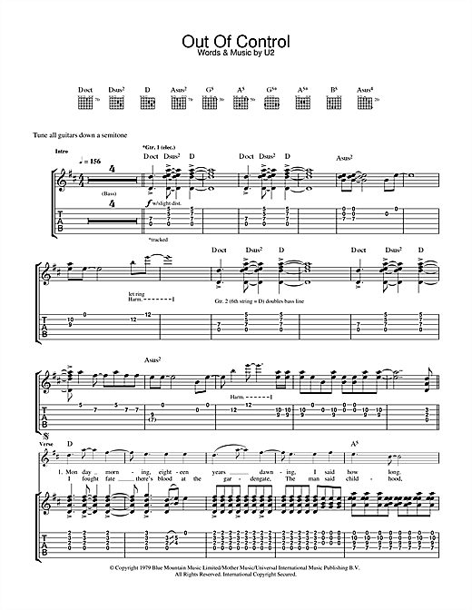 Out Of Control Sheet Music