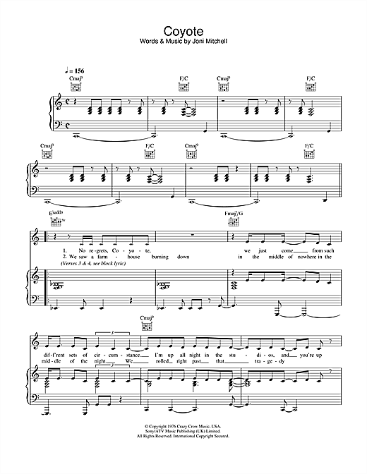 Coyote Sheet Music