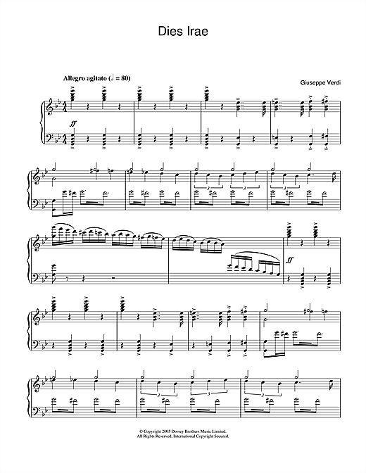 Dies Irae (from Requiem) Sheet Music