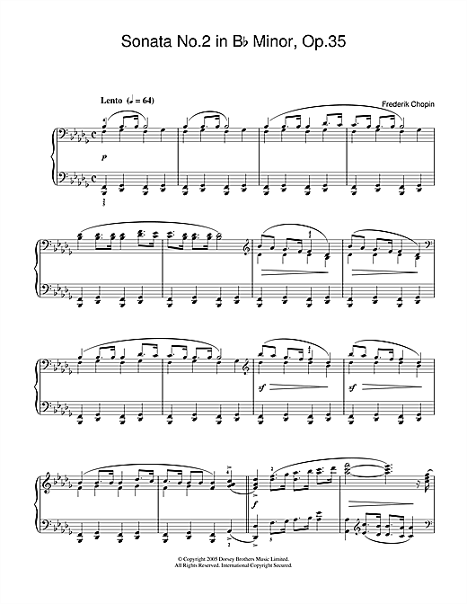 Sonata No.2 in B Flat Minor Op.35 (Funeral March) Sheet Music