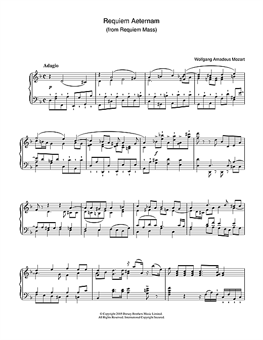 Requiem Aeternam (from Requiem) Sheet Music