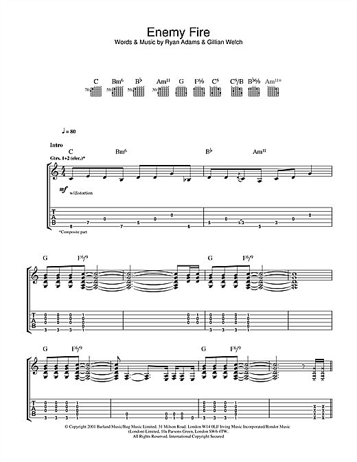 Enemy Fire Sheet Music