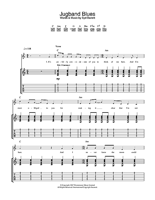Jugband Blues Sheet Music