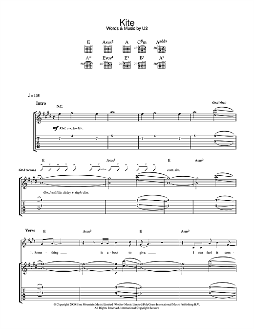 Kite Sheet Music