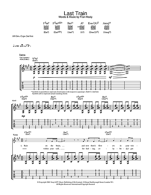 Last Train (Guitar Tab)