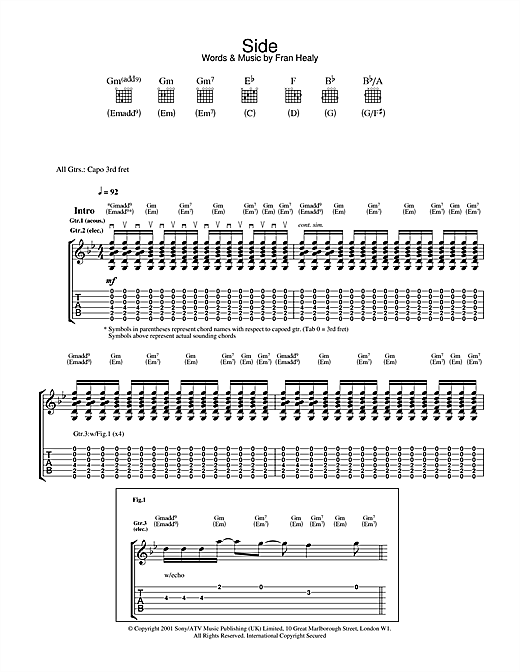 Side Sheet Music