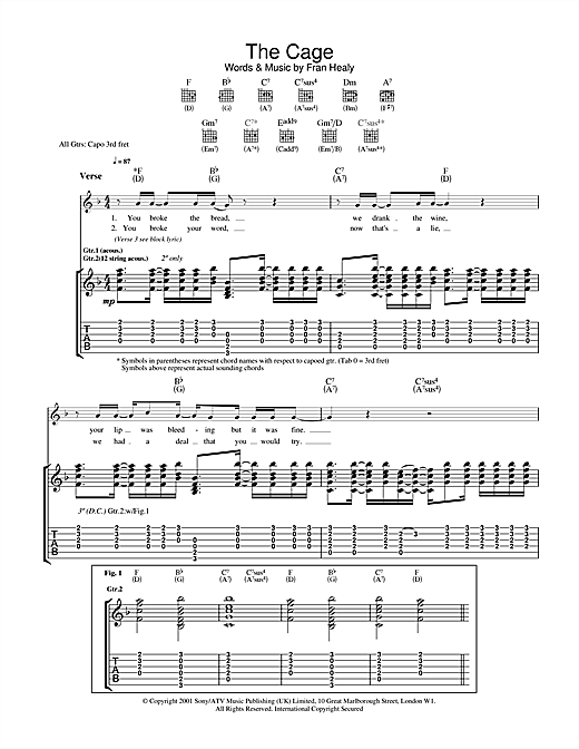 The Cage Sheet Music
