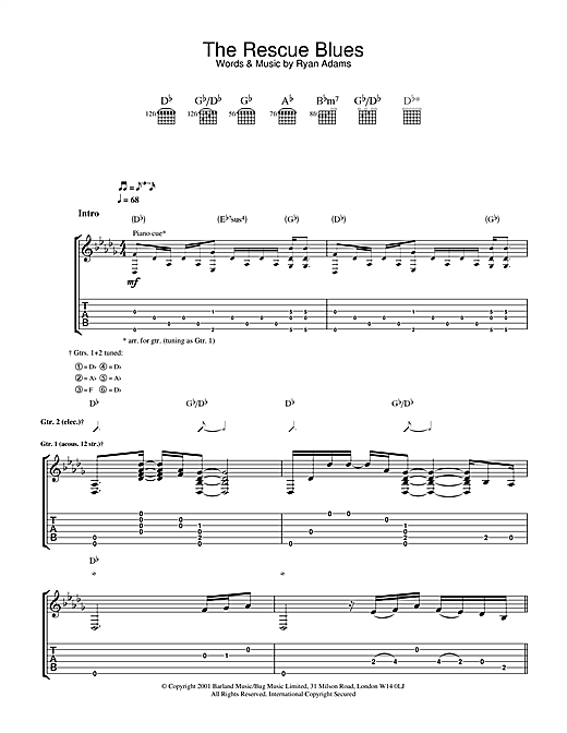 The Rescue Blues Sheet Music