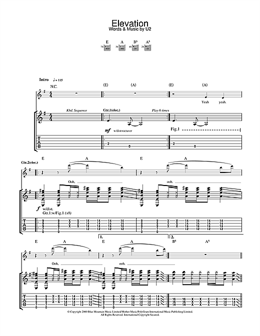 Elevation Sheet Music