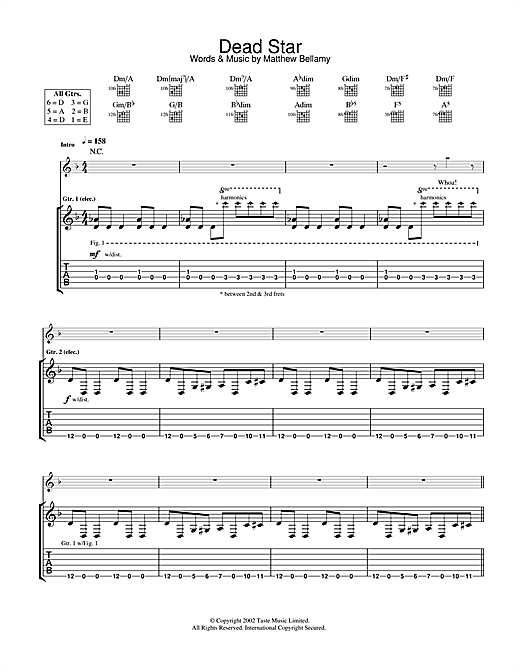 Dead Star Sheet Music