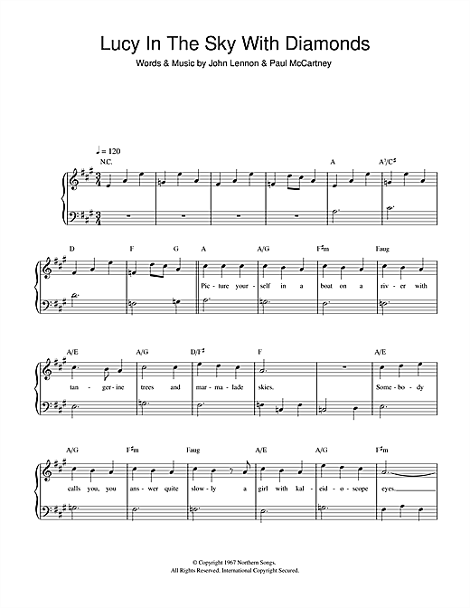 Lucy In The Sky With Diamonds Sheet Music