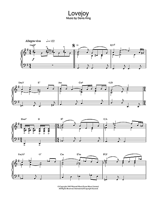 Theme from Lovejoy Sheet Music