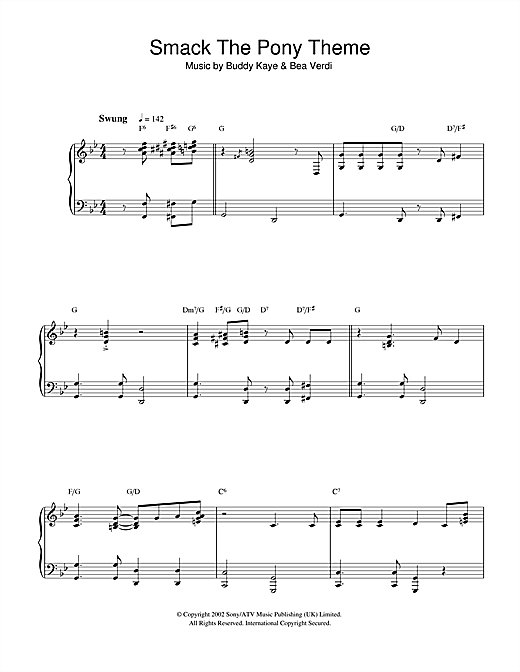 Smack The Pony Theme Sheet Music