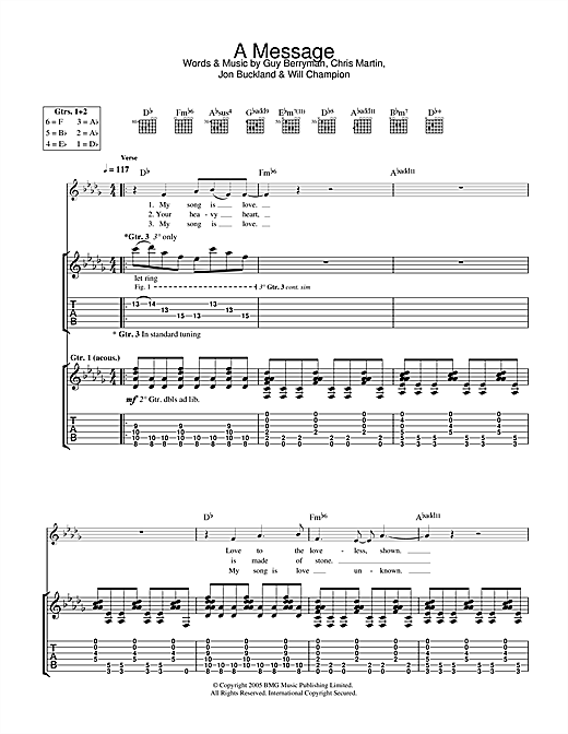 A Message Sheet Music