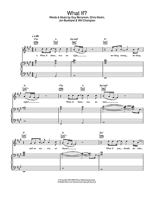 What If? Sheet Music