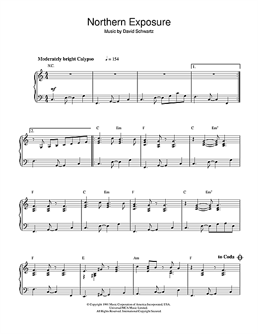 Northern Exposure Sheet Music