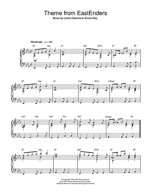 Theme from EastEnders Sheet Music