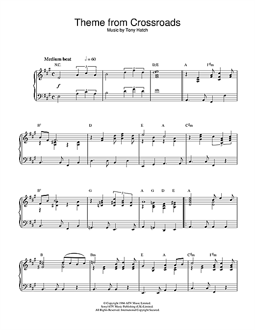 Theme from Crossroads Sheet Music