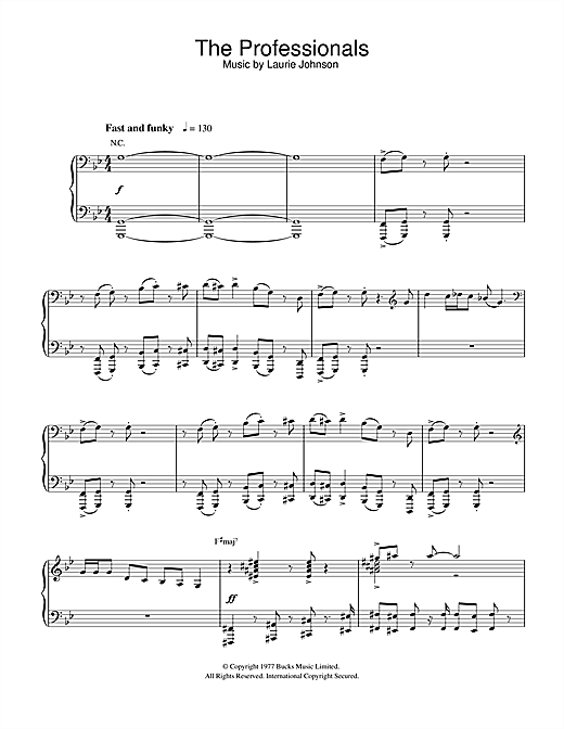 Theme from The Professionals Sheet Music