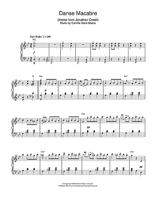 Danse Macabre (theme from Jonathan Creek) Sheet Music