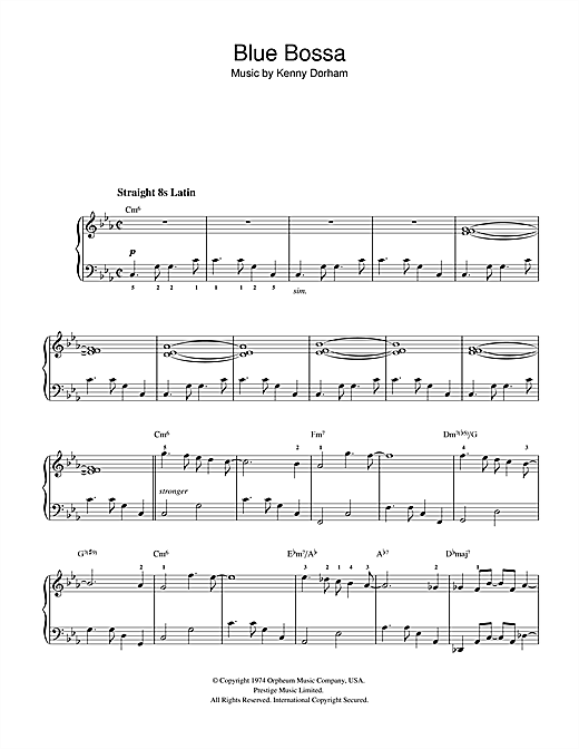 Blue Bossa Sheet Music
