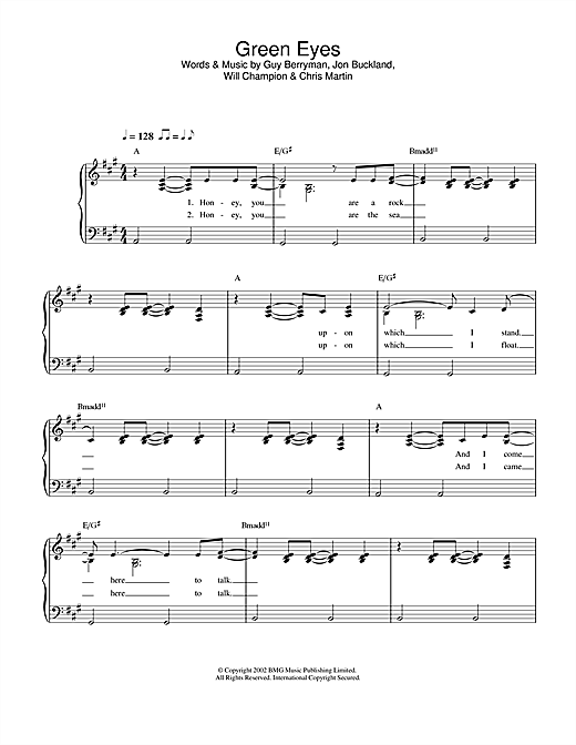 Green Eyes Sheet Music