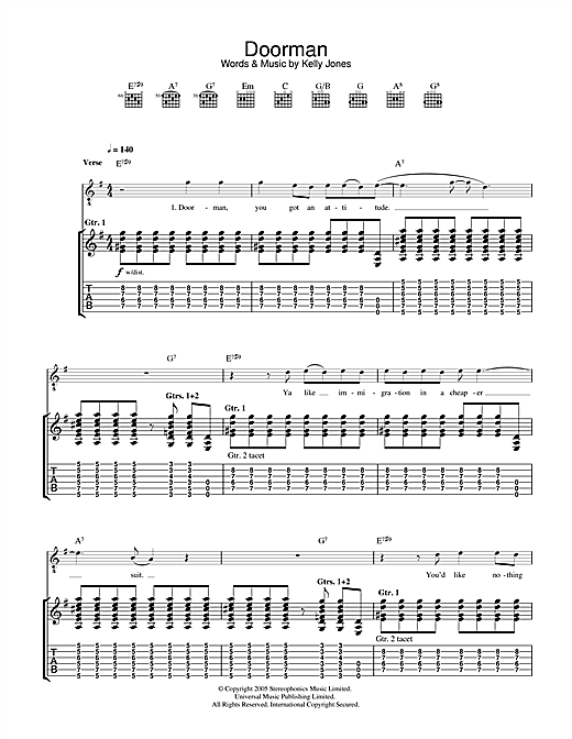 Doorman Sheet Music