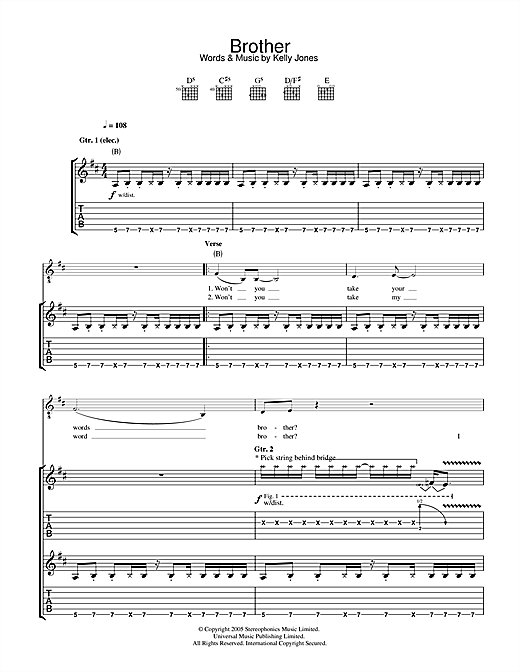 Brother Sheet Music