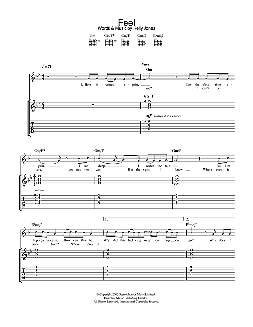 Feel Sheet Music
