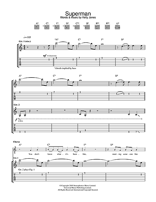 Superman (Guitar Tab)