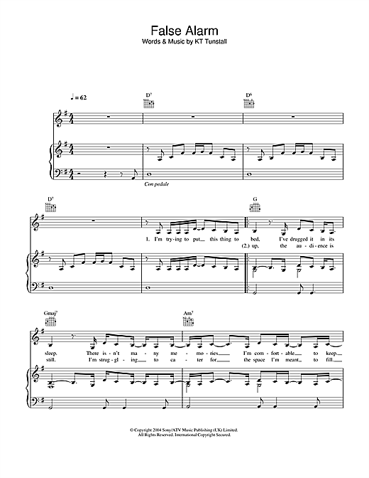 False Alarm Sheet Music