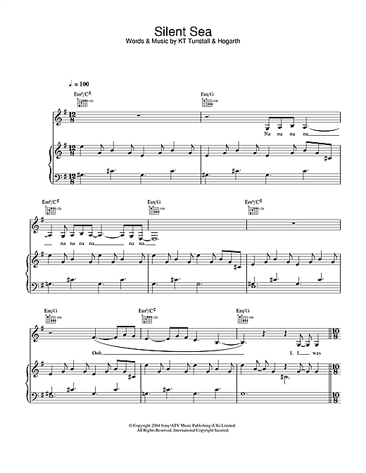 Silent Sea Sheet Music
