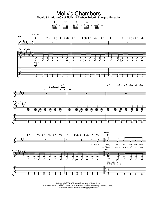 Molly's Chambers Sheet Music
